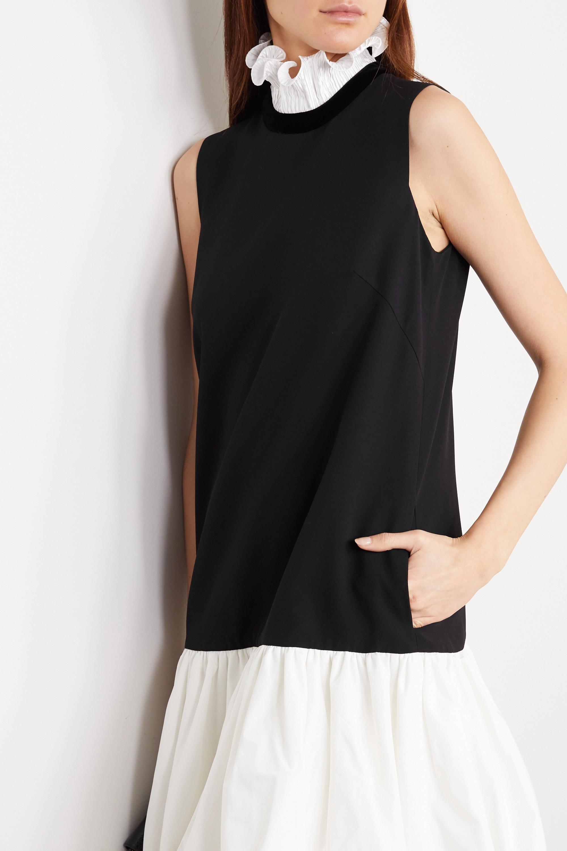 Givenchy Ruffled plissé-satin, cady and taffeta mini dress