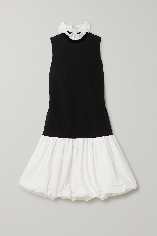 Givenchy Mini-robe en cady, taffetas et satin plissé à volants