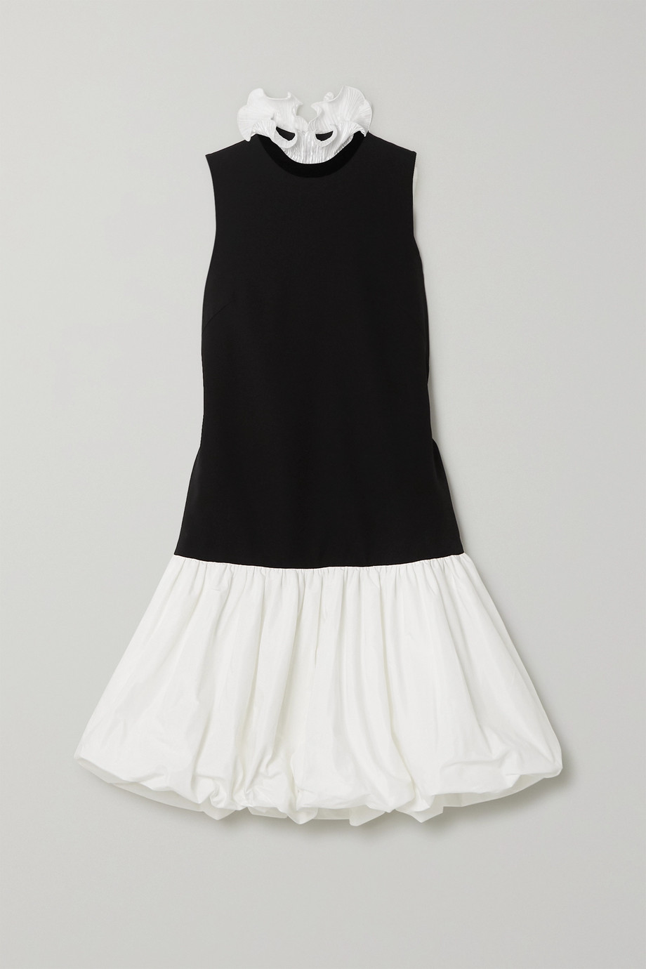 Givenchy Ruffled plissé-satin, cady and taffeta mini dress