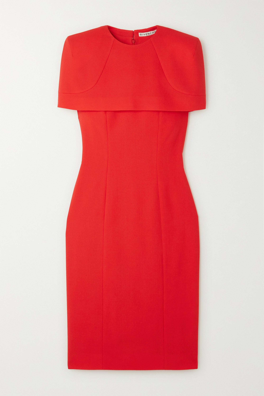 Givenchy Kleid aus Woll-Crêpe mit Cape-Effekt