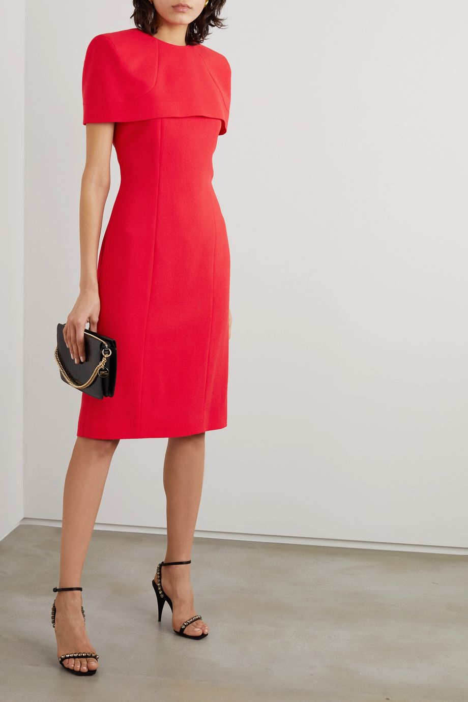 Givenchy Cape-effect wool-crepe dress