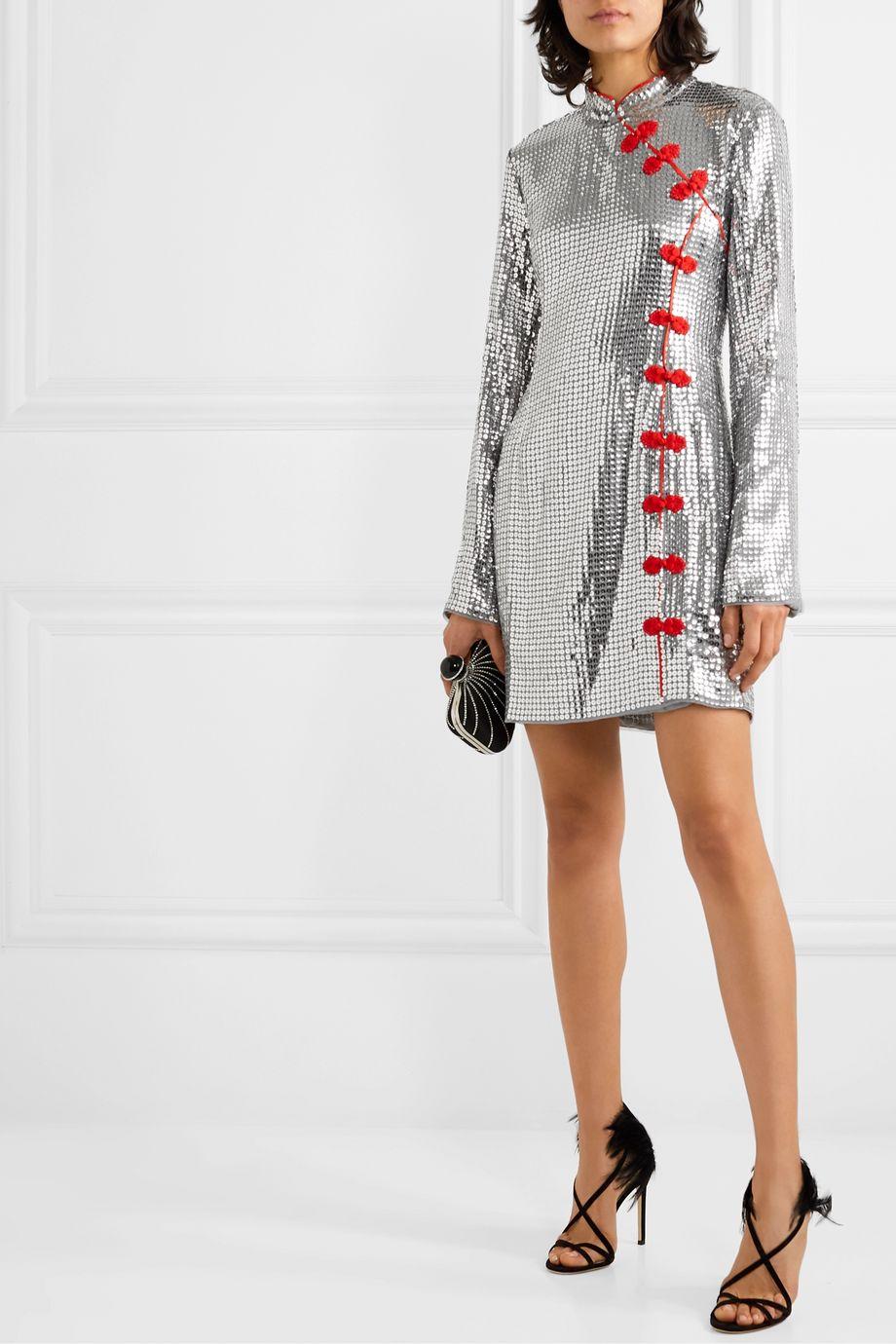 De La Vali Ginger sequined tulle mini dress