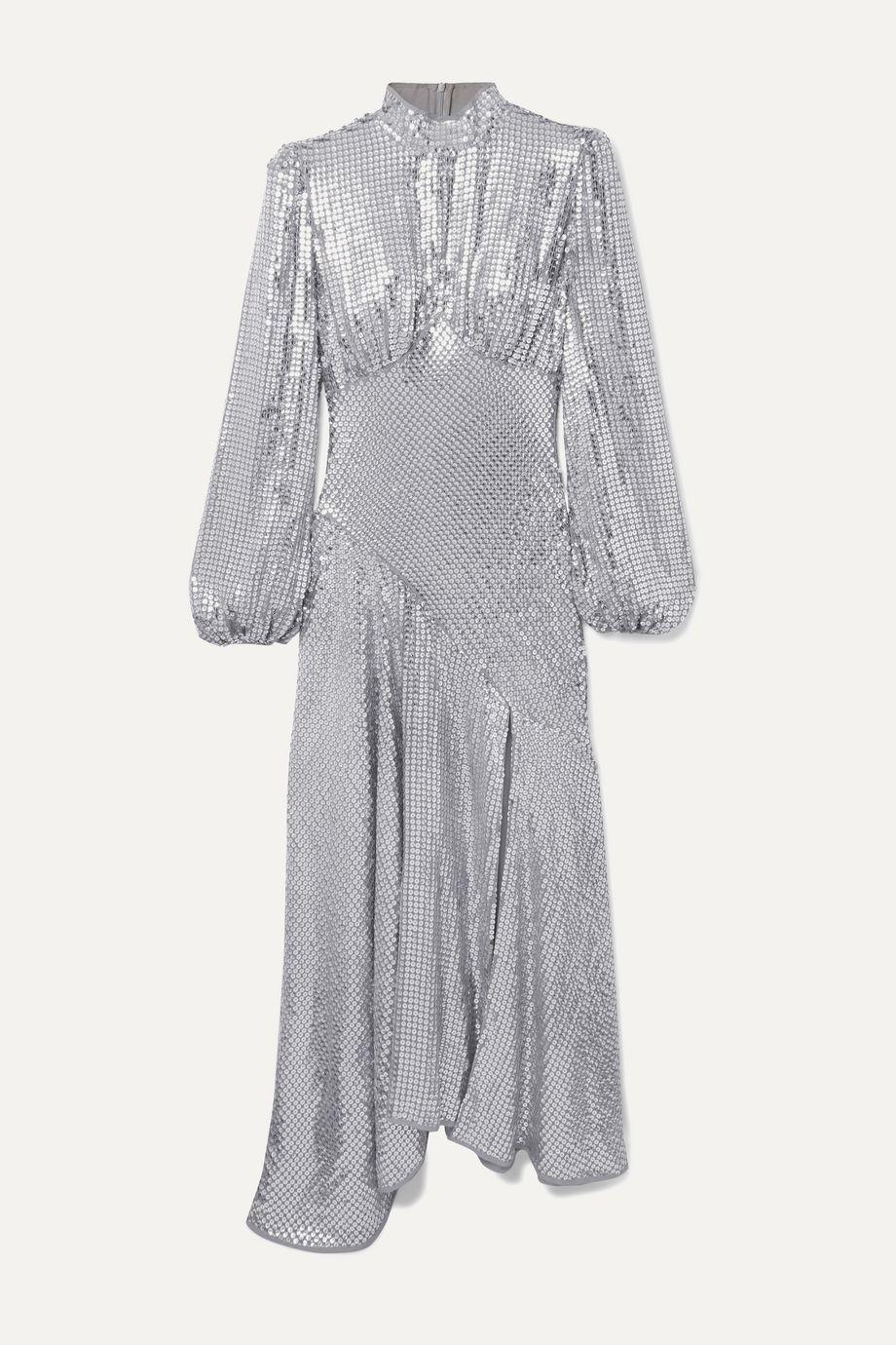 De La Vali Clara sequined tulle midi dress