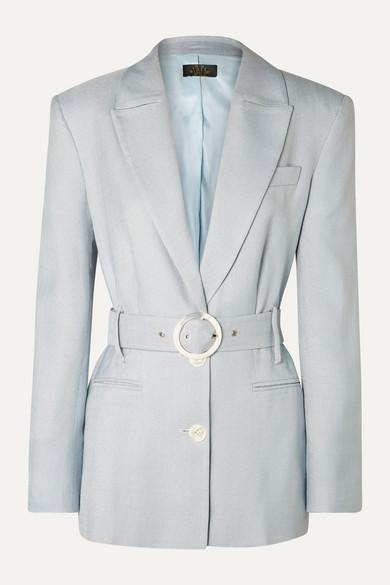 Belted Woven Blazer