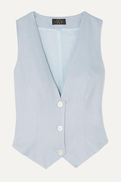 Blue Woven Vest