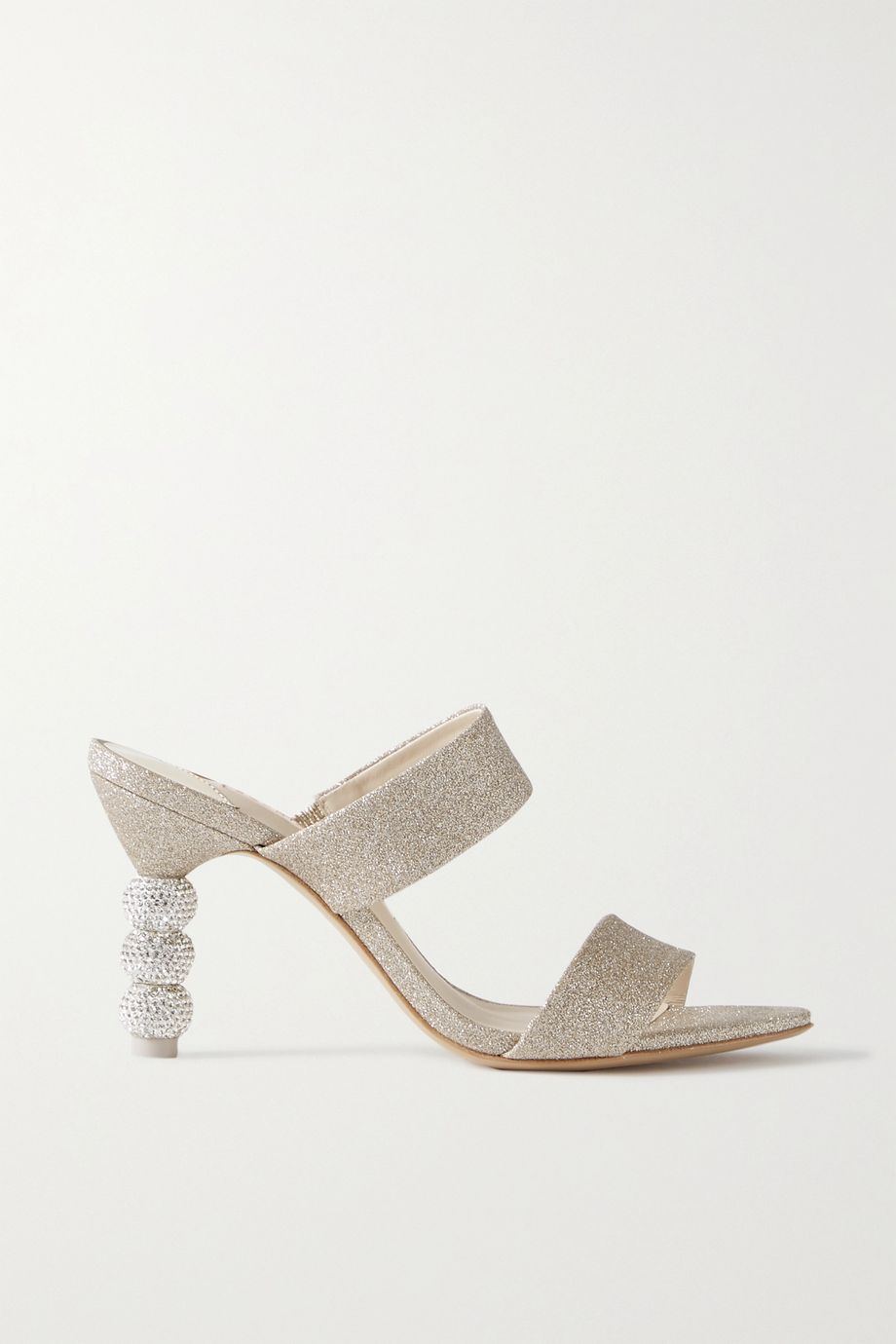 Sophia Webster Rosalind crystal-embellished glittered-satin mules