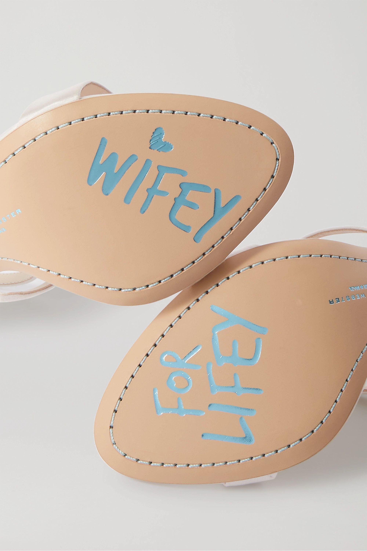Sophia Webster Rosalind crystal-embellished satin sandals