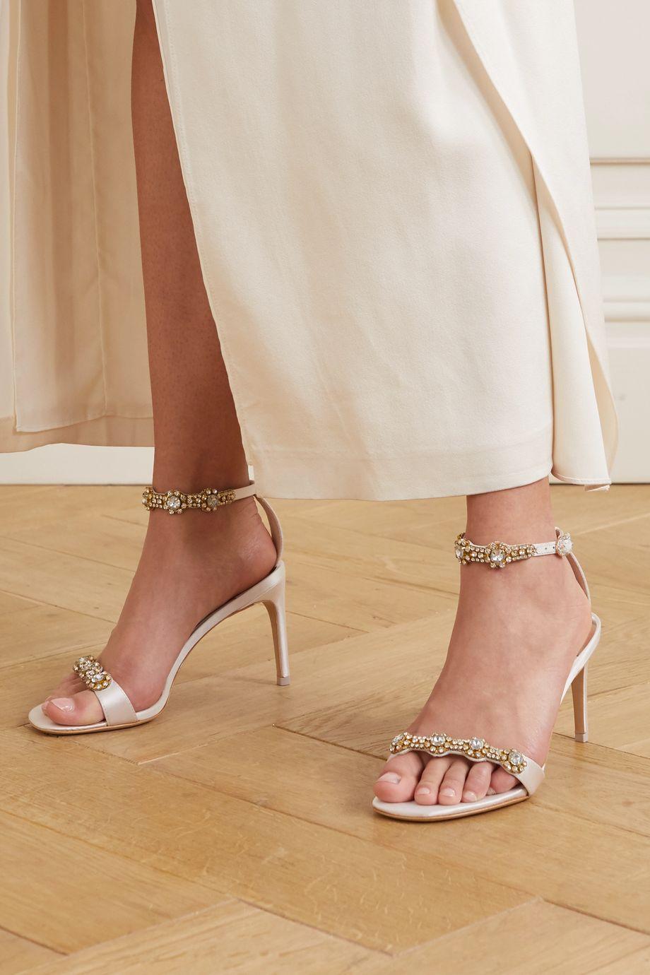 Sophia Webster Aaliyah crystal-embellished satin sandals