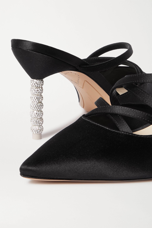 Sophia Webster Coco crystal-embellished satin mules