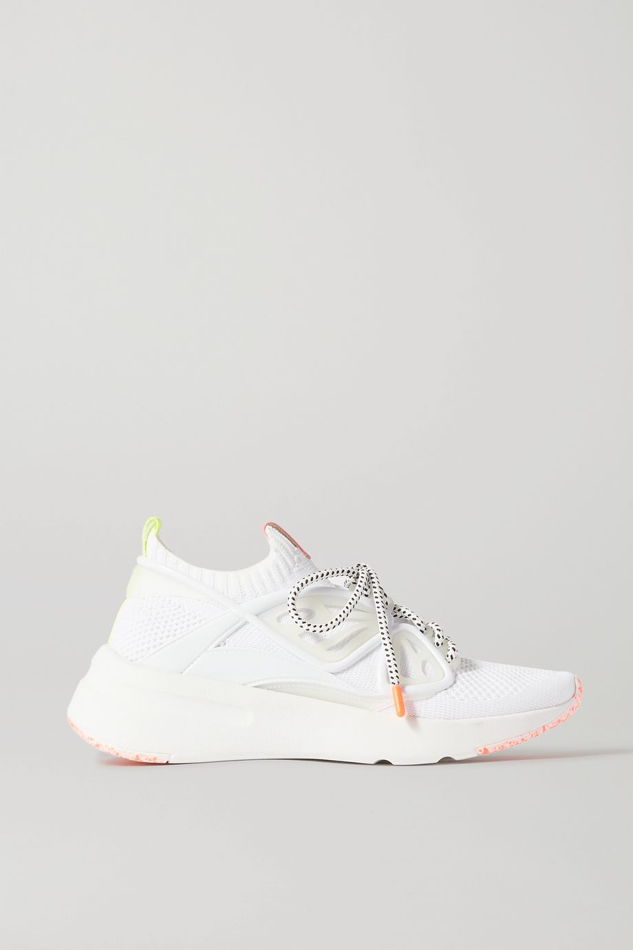 Sophia Webster Leather and rubber-trimmed mesh sneakers