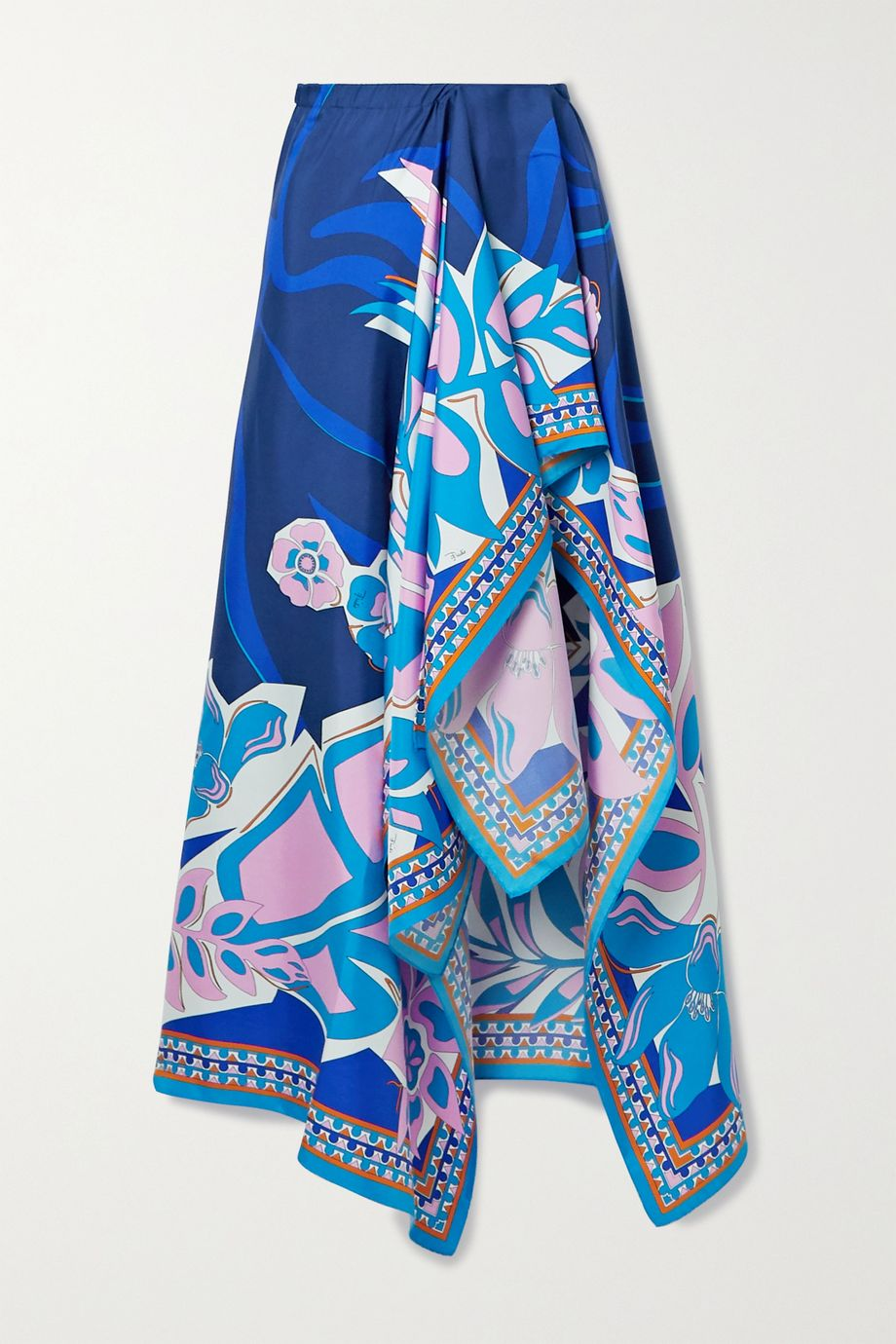 Emilio Pucci Samoa printed silk-satin pareo