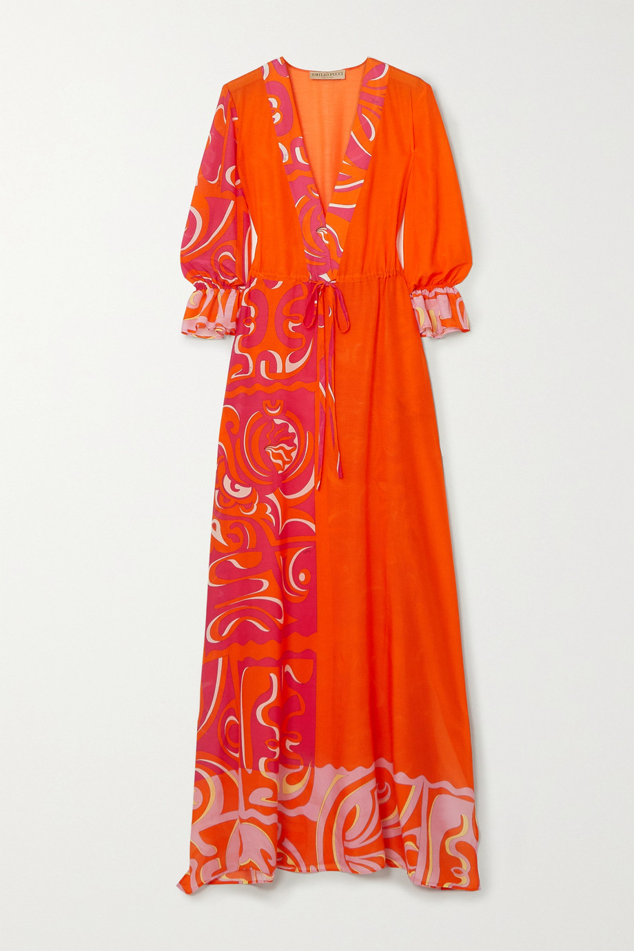 Emilio Pucci | Printed cotton and silk-blend chiffon maxi dress | NET-A-PORTER.COM