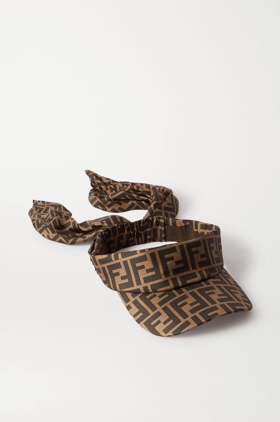 Fendi Printed silk visor