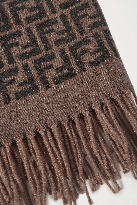 Fendi Cashmere and silk-blend jacquard travel set