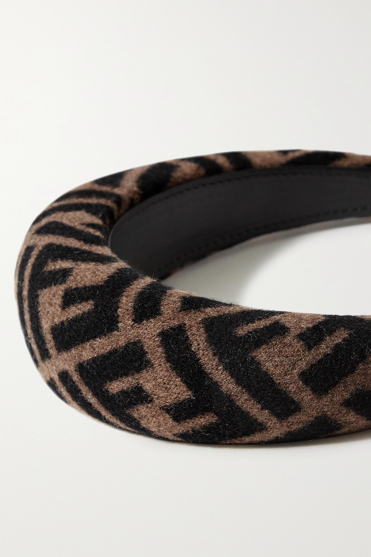 Fendi Printed wool-blend felt headband