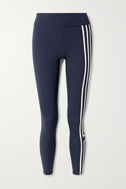 Tory Sport Striped stretch-Tactel leggings