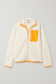 Tory Sport Sherpa shell-trimmed fleece jacket