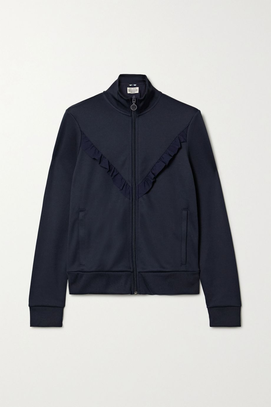 Tory Sport Ruffled stretch-knit track jacket