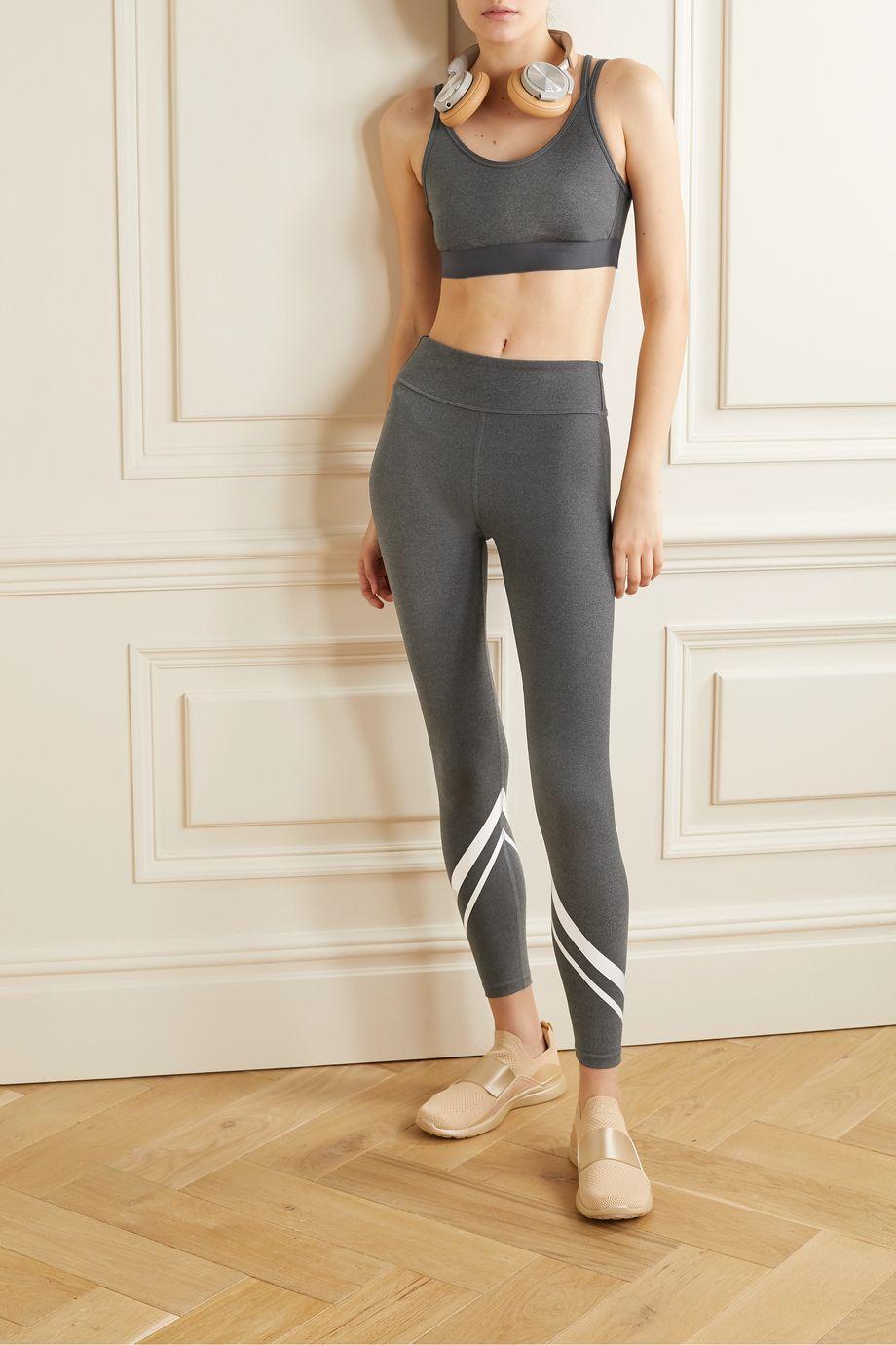 Tory Sport Printed stretch-jersey leggings