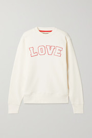 Tory Sport Appliquéd French cotton-terry sweatshirt