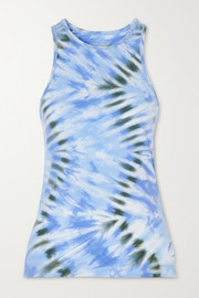 Tory Sport Tie-dyed stretch tank