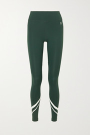 Tory Sport Striped stretch leggings