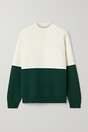 Tory Sport Oversized two-tone stretch-knit sweater