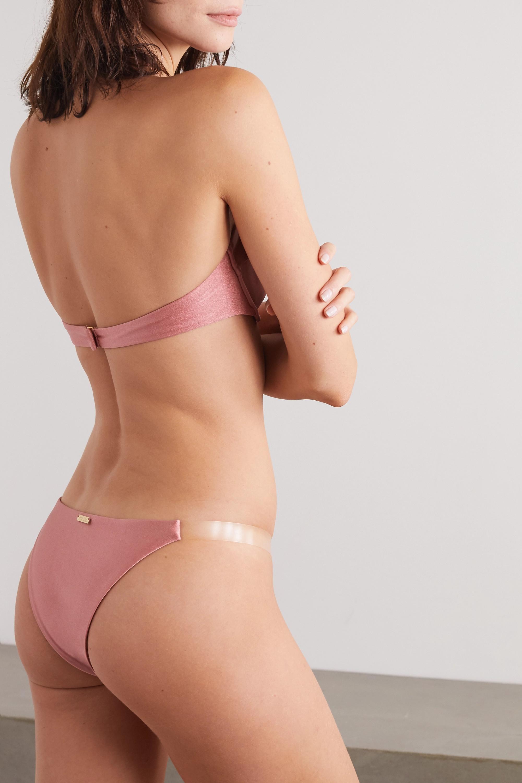 Cult Gaia Cindy PVC-trimmed underwired bikini