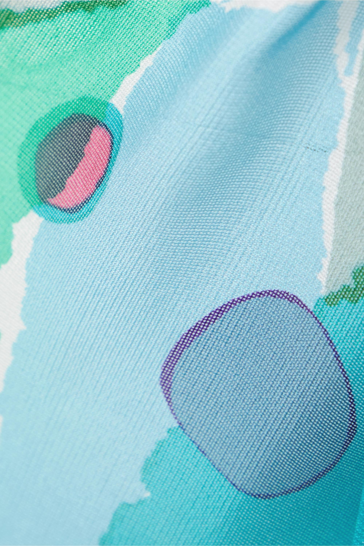 Cult Gaia Isabella asymmetric printed silk skirt