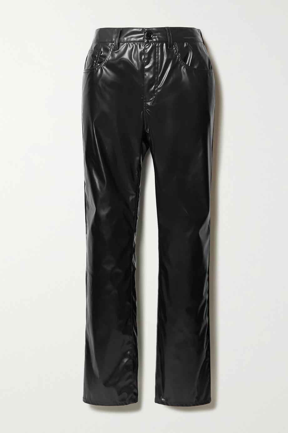 MM6 Maison Margiela Vinyl straight-leg pants