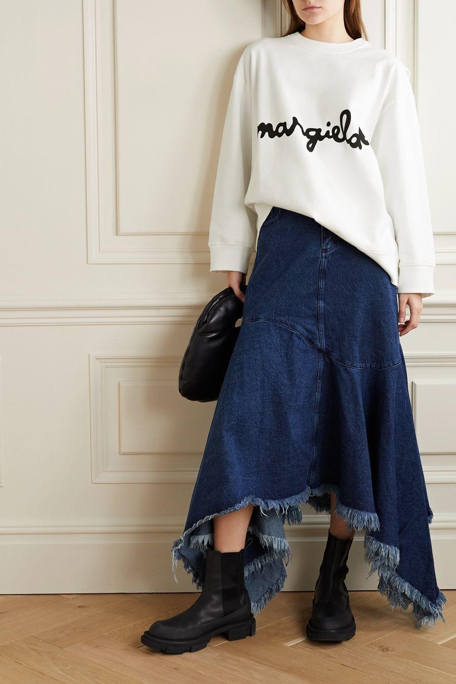 MM6 Maison Margiela Mehrlagiges Oversized-Sweatshirt aus Baumwoll-Jersey mit Print