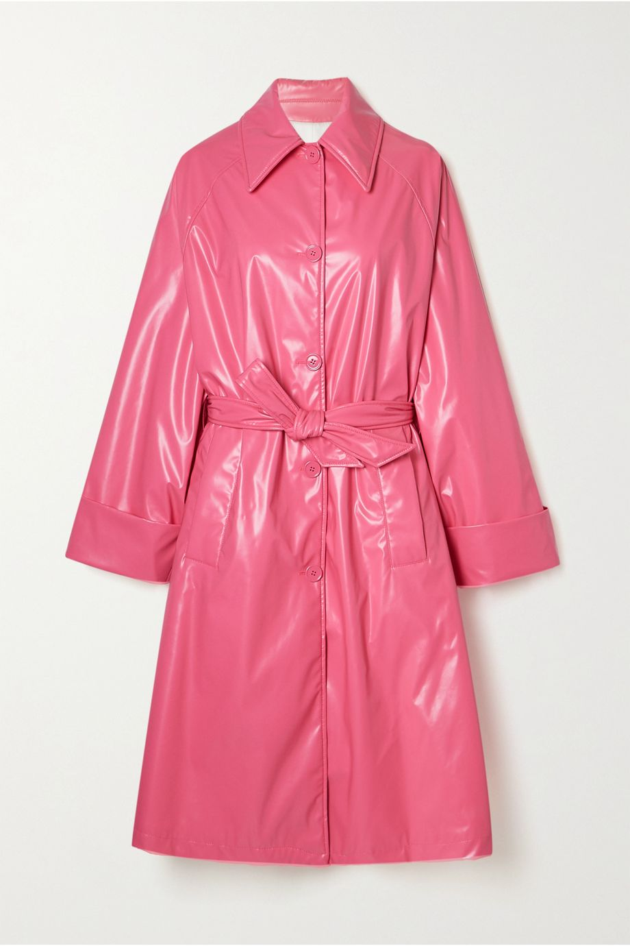 MM6 Maison Margiela Belted vinyl coat