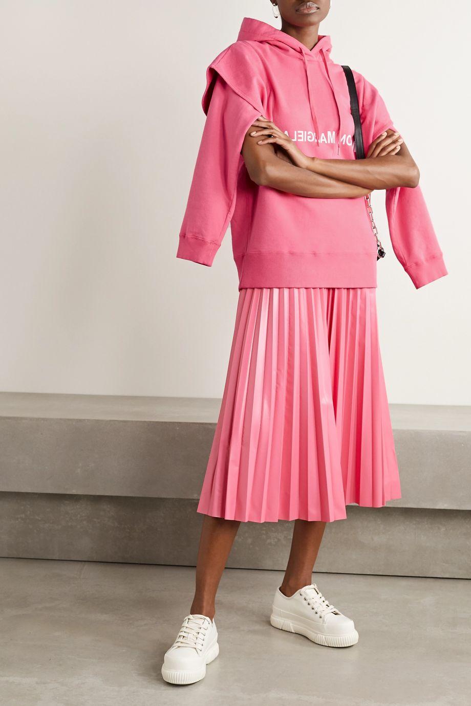 MM6 Maison Margiela Mehrlagiger Oversized-Hoodie aus Baumwoll-Jersey mit Print