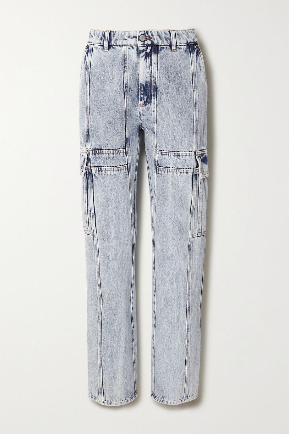 MM6 Maison Margiela Acid-wash high-rise straight-leg jeans