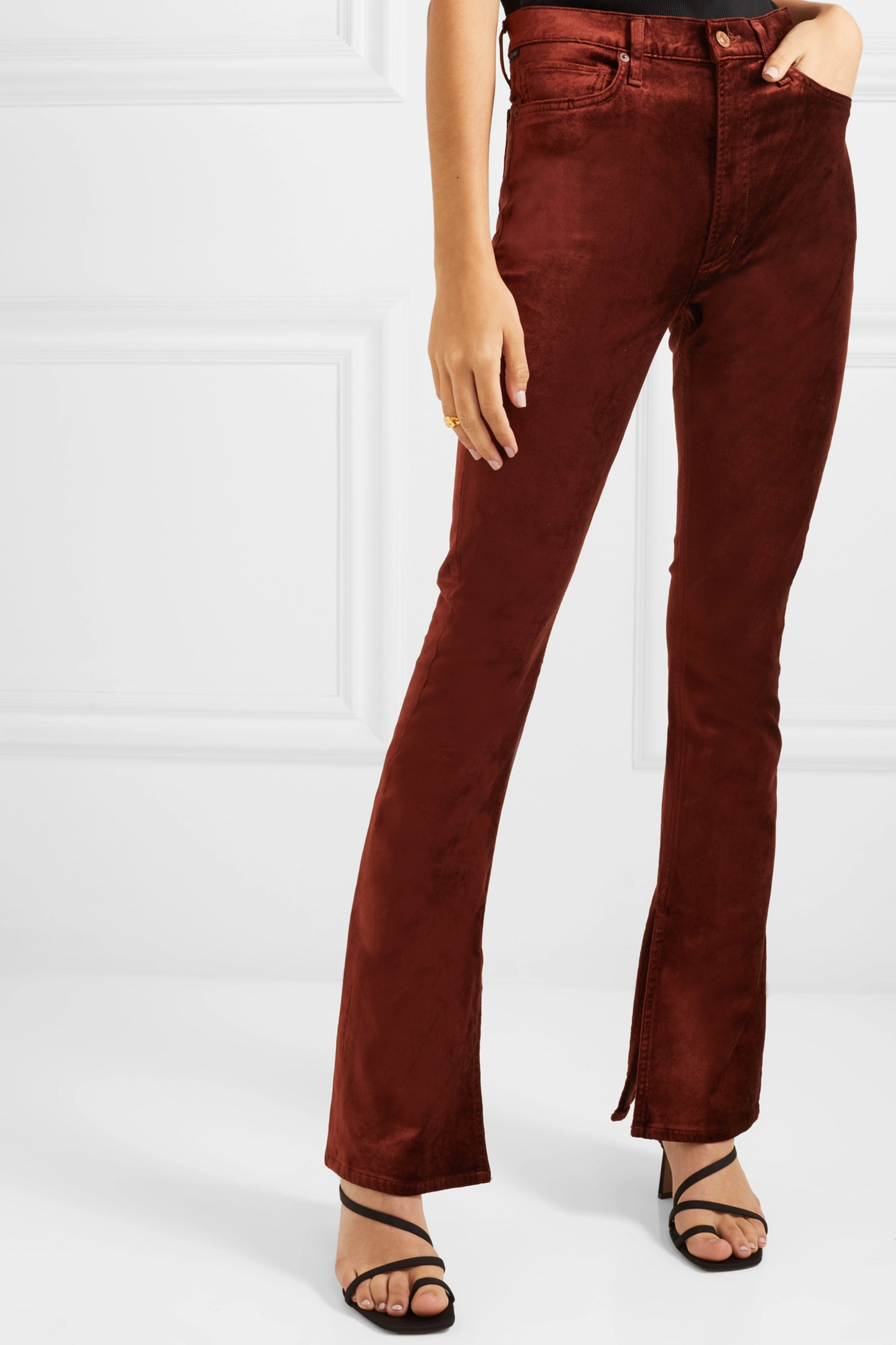 Citizens of Humanity Georgia stretch-velvet bootcut pants