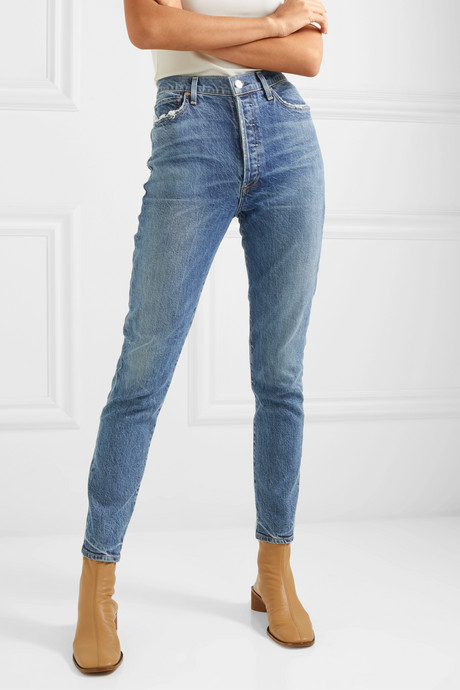 Olivia high-rise slim-leg jeans