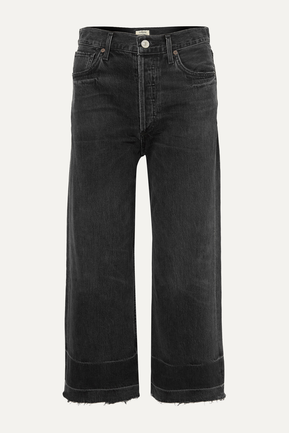 Citizens of Humanity Sacha frayed cropped high-rise wide-leg jeans
