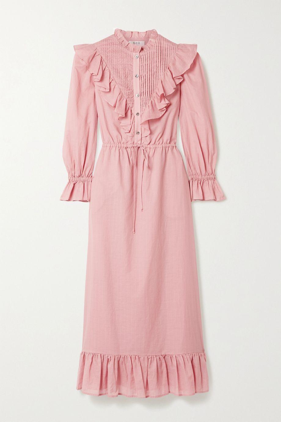 Sea Clara ruffled cotton-voile dress