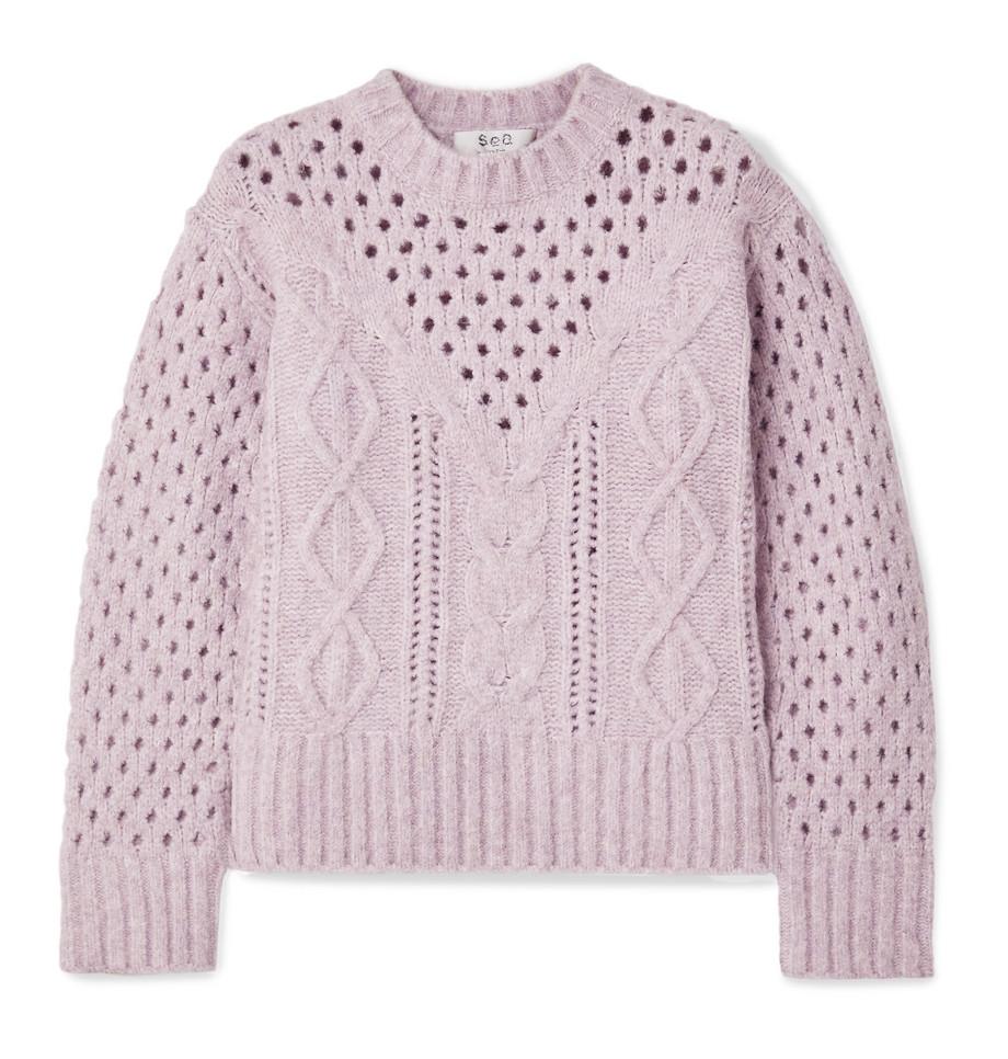 Sea Cora cable-knit sweater