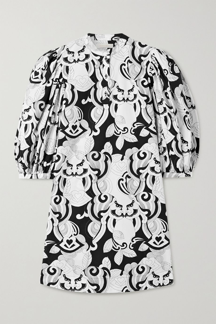 See By Chloé Printed cotton-poplin mini dress