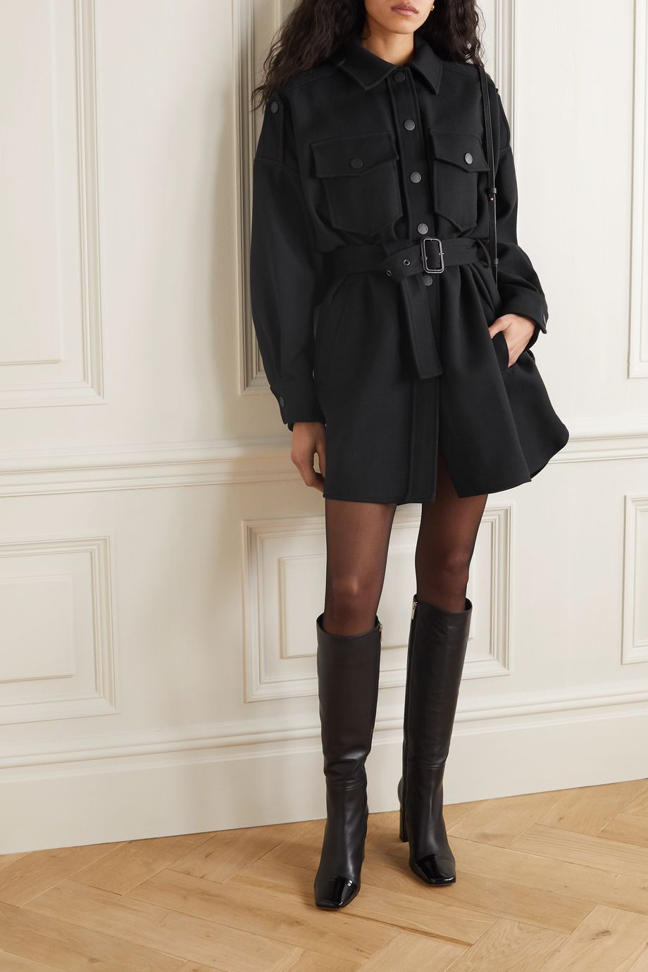 See By Chloé Belted cotton-blend coat