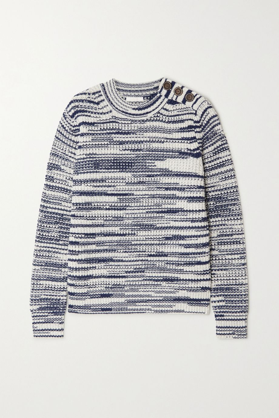 See By Chloé Button-embellished space-dyed knitted sweater