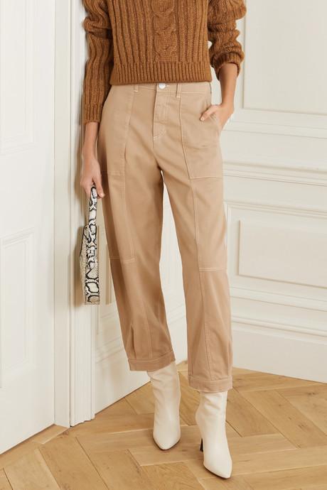 Cotton-blend gabardine pants