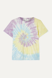 Classic tie-dyed cotton-jersey T-shirt