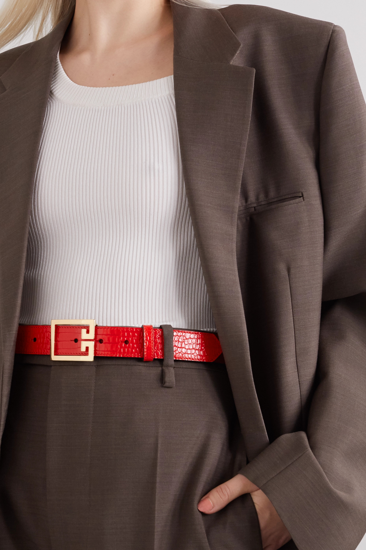 Givenchy Croc-effect leather belt