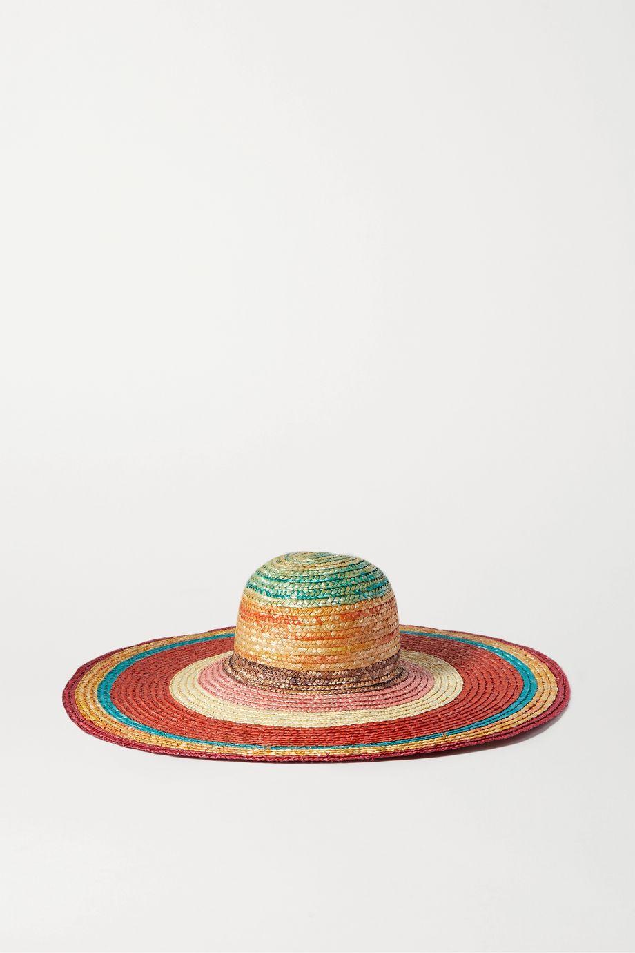 Missoni Striped straw sunhat