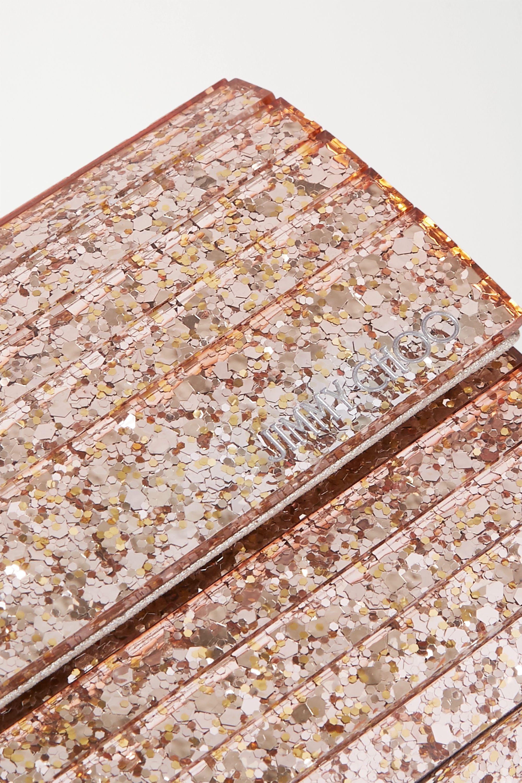 Jimmy Choo Sweetie glittered acrylic clutch