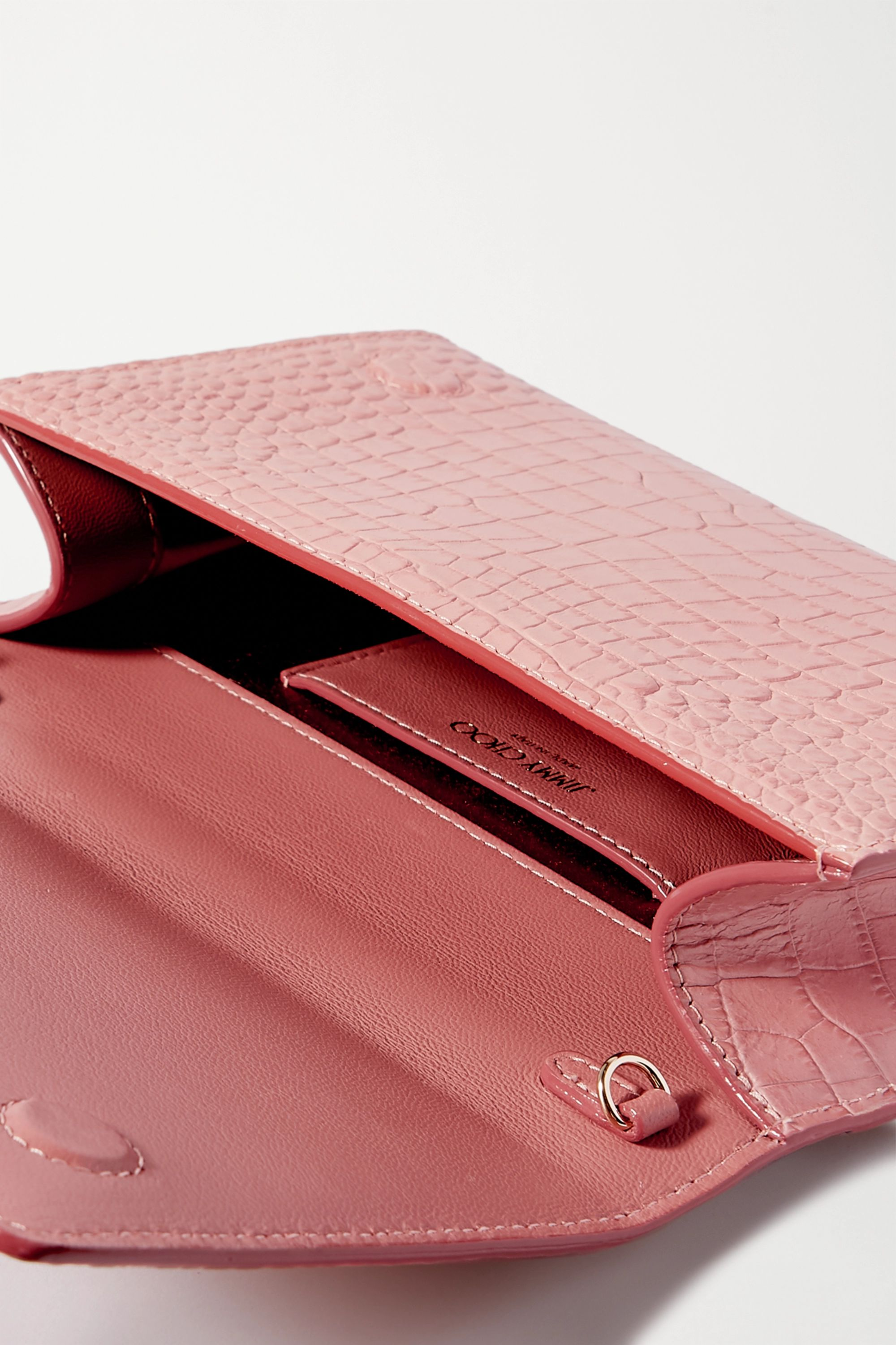 Jimmy Choo Varenne croc-effect leather clutch