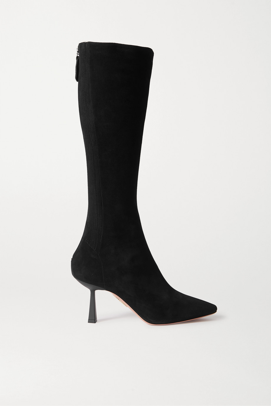 Aquazzura Curzon 75 suede knee boots