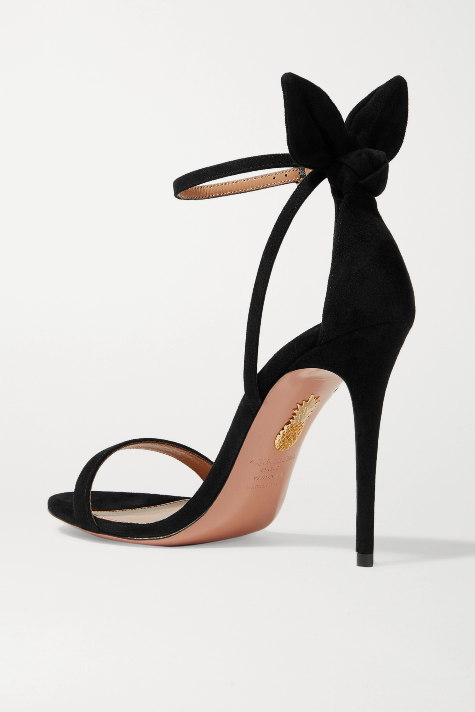 Aquazzura Deneuve 105 bow-embellished suede sandals